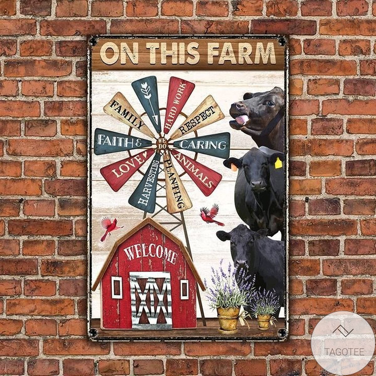Very Good Quality Black Angus Cattle Lovers On This Farm Metal Sign