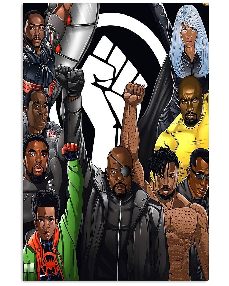 Black Lives Matter Superheroes poster