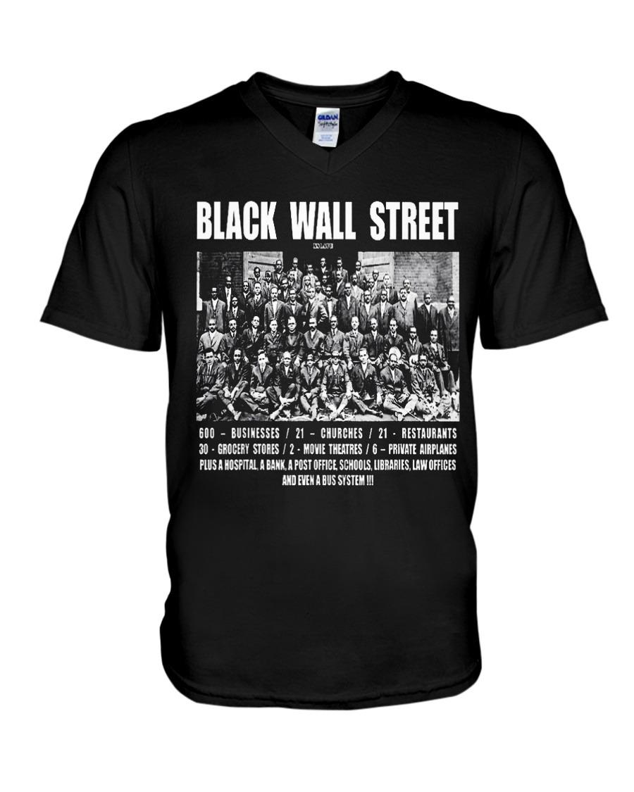 Black Wall Street Tulsa Oklahoma v-neck