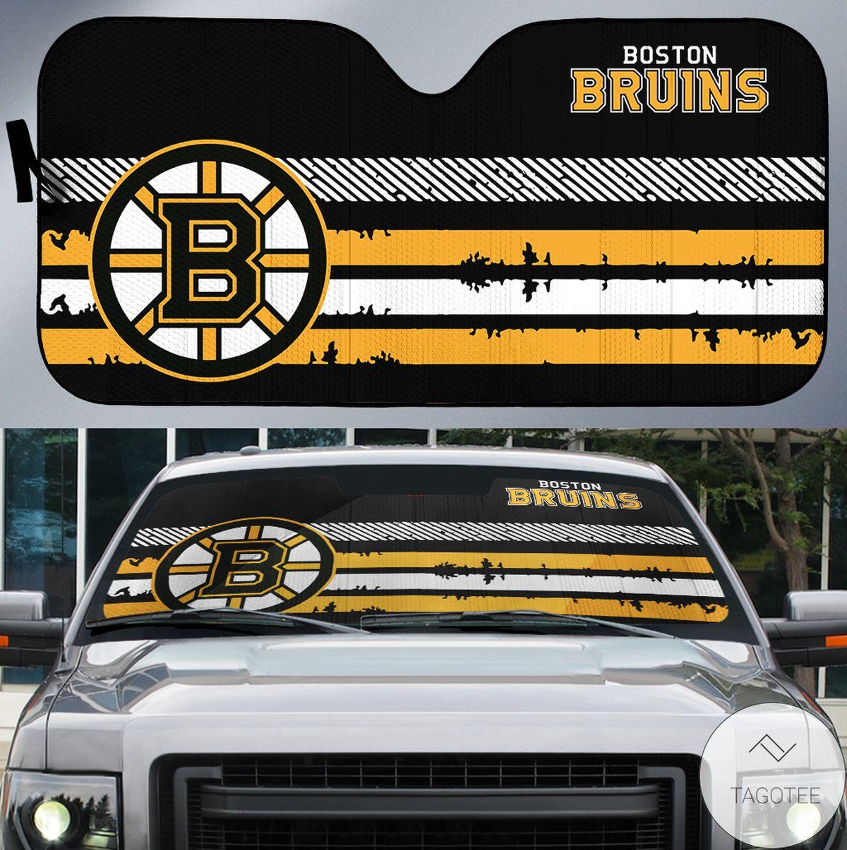 Boston Bruins Branded Universal Car Auto Sun Shade