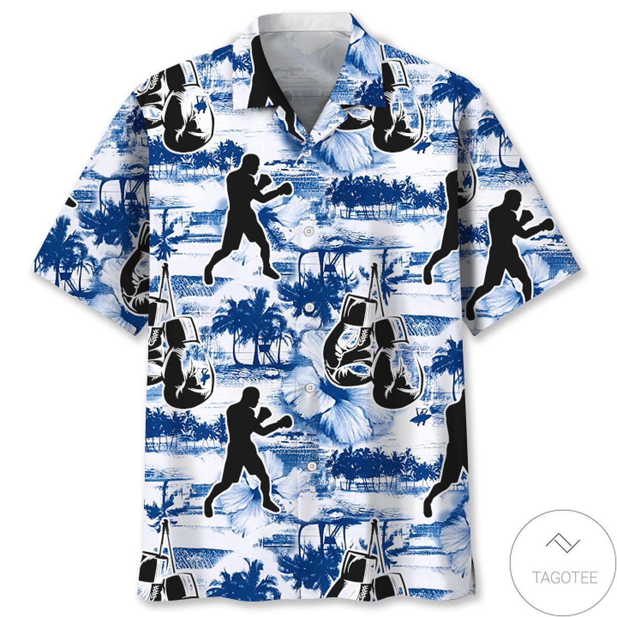 Boxing Blue Nature Hawaiian Shirt