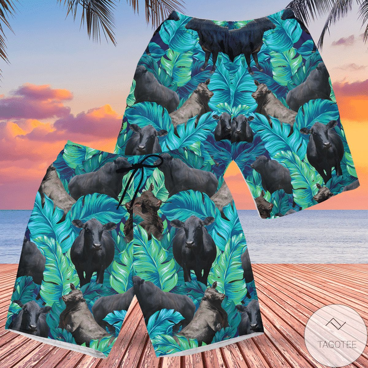 Brangus Cattle Lovers Hawaiian Swim Trunks Beach Shorts