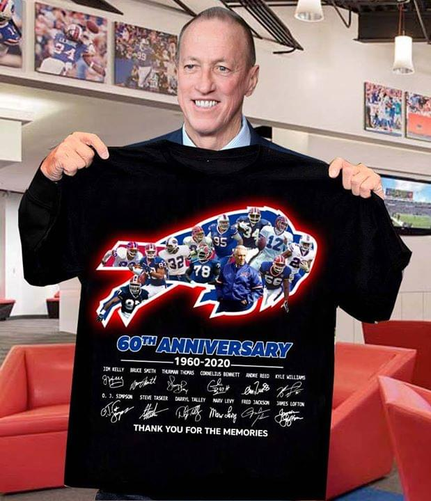 Buffalo Bills 60th Anniversary 1960-2020 shirt 0
