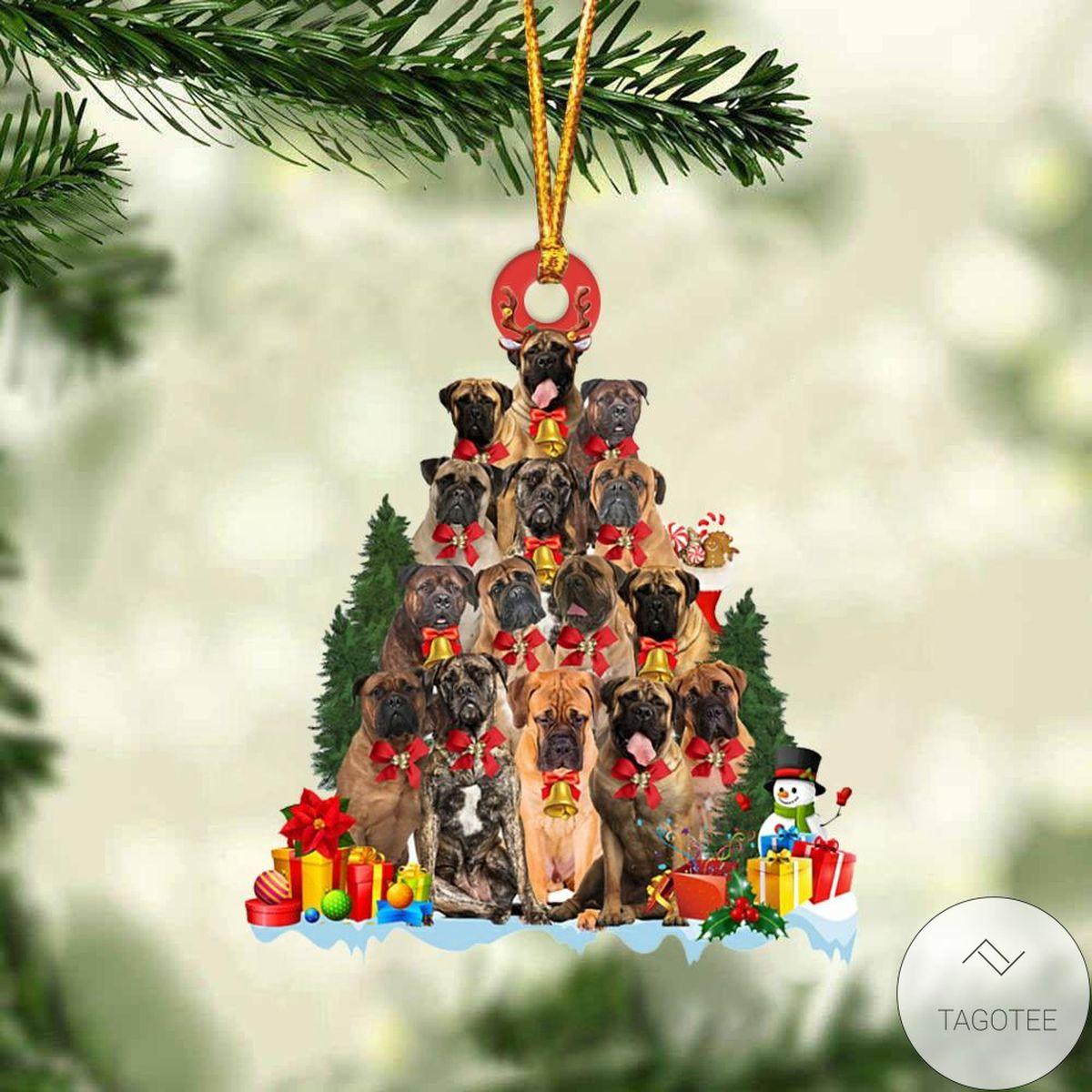 Bullmastiff Dog Christmas Tree Ornament