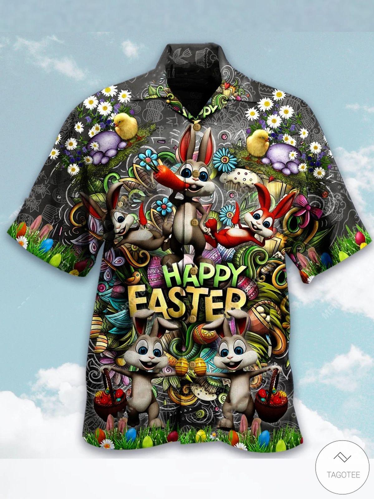 Bunny Happy Easter Hawaiian Shirt
