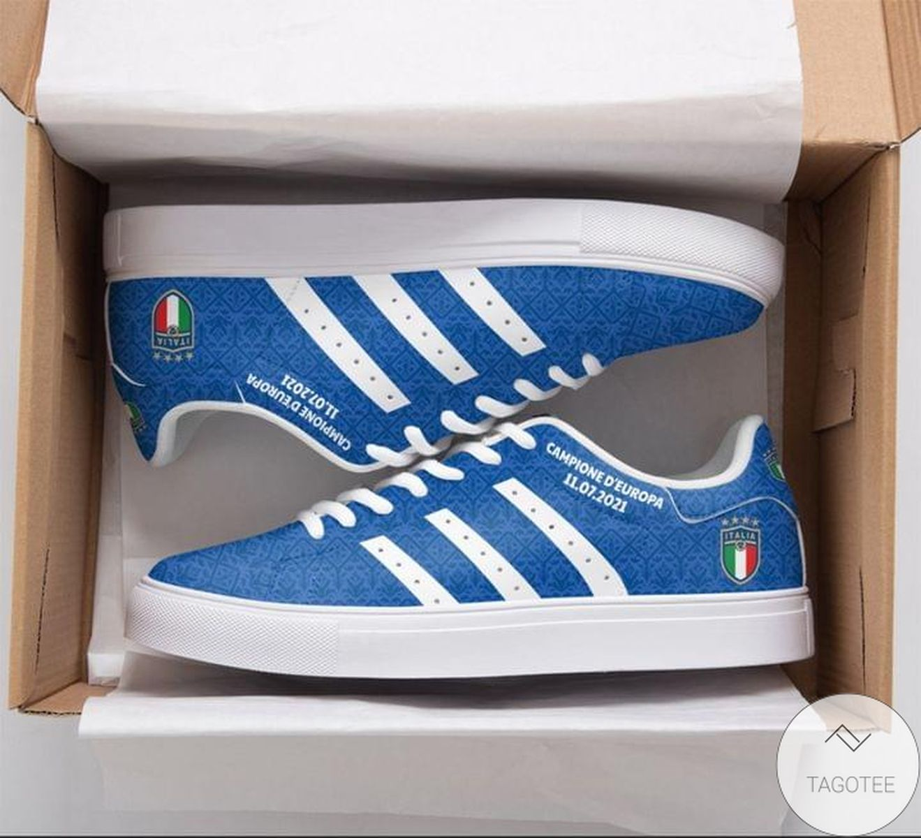 Campione D'europa Blue Stan Smith Shoes