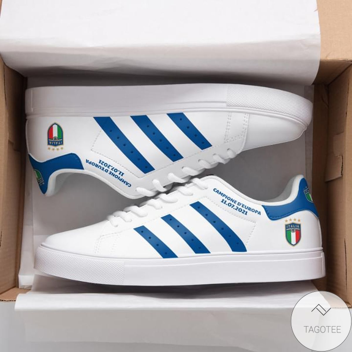Campione D'europa White Stan Smith Shoes