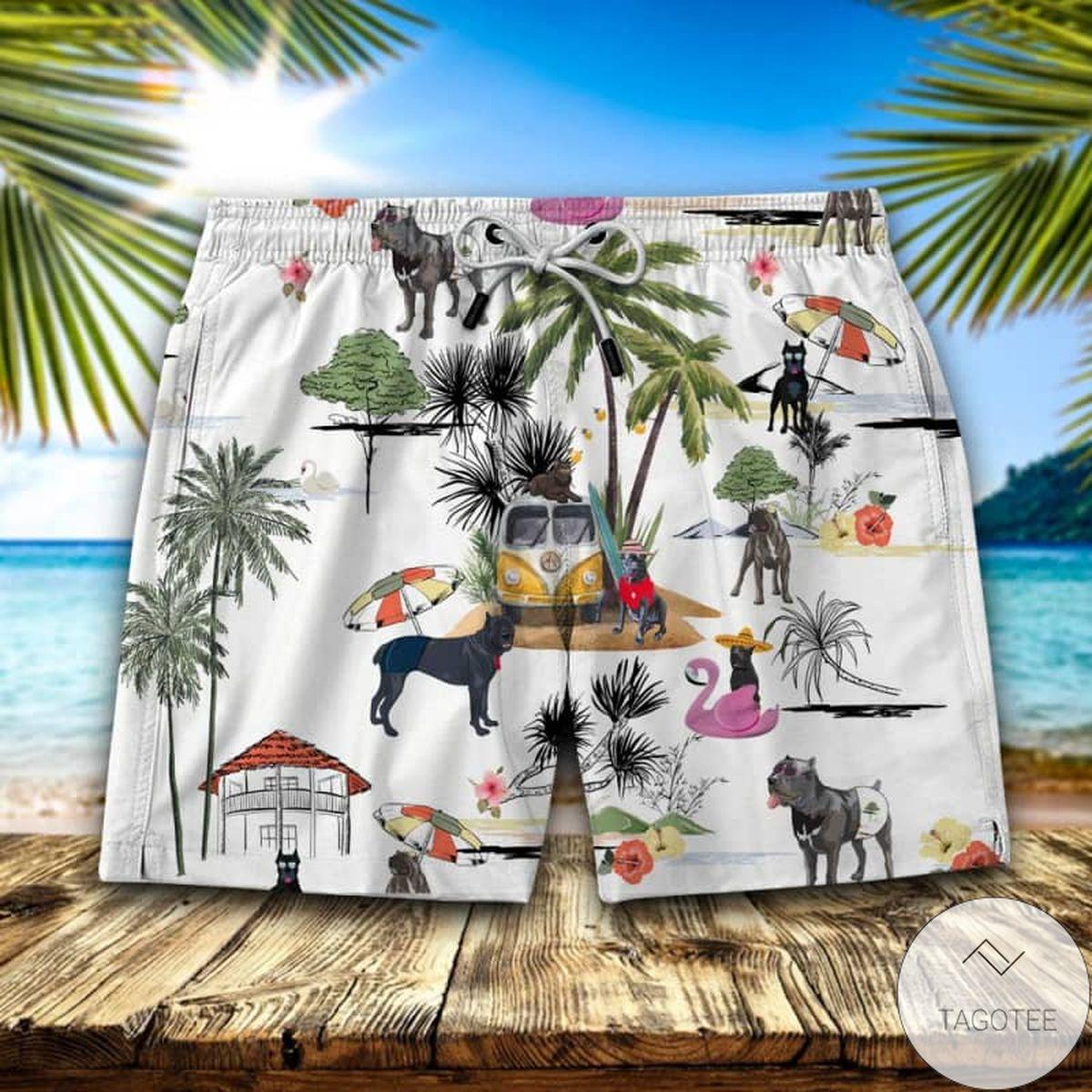 Cane Corso Hawaiian Swim Trunks Beach Shorts