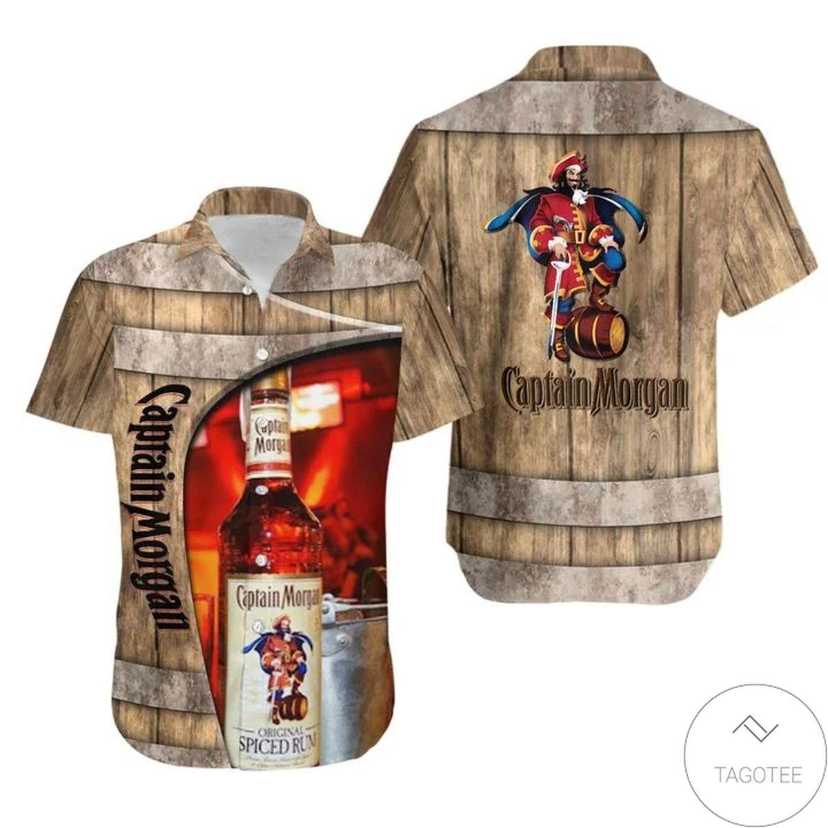 Captain Morgan Barrel Hawaiian Shirt