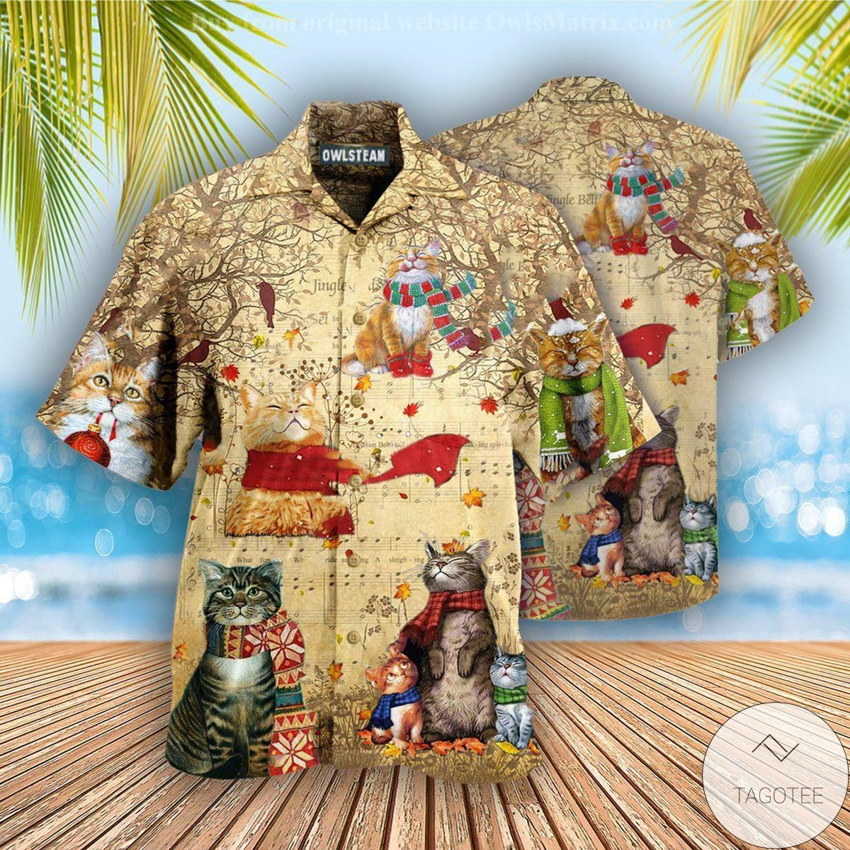 Cat Christmas Vibe Hawaiian Shirt