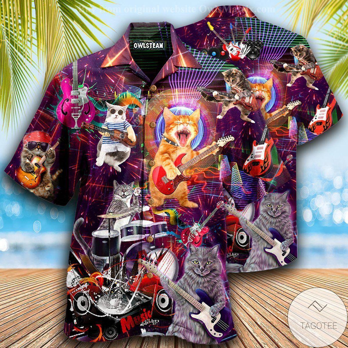 Cat Rocker Hawaiian Shirt