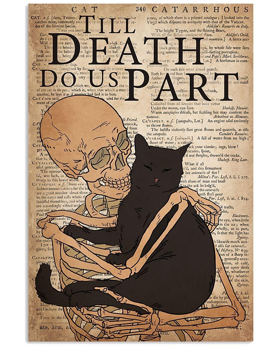 Cat Till Death Do Us Part Skull poster