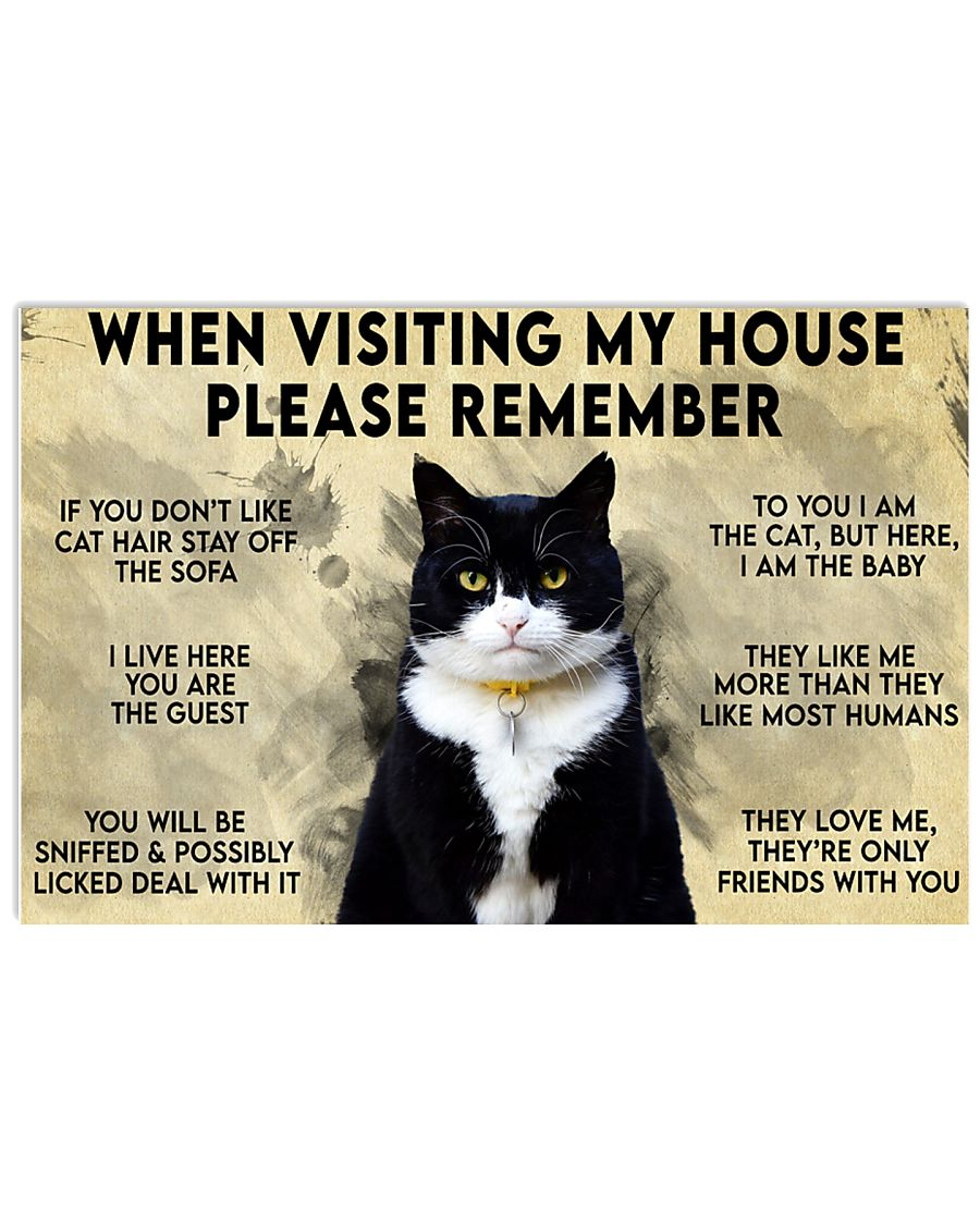 Cat When visiting my house please remember To you I am the cat but here I am the baby poster