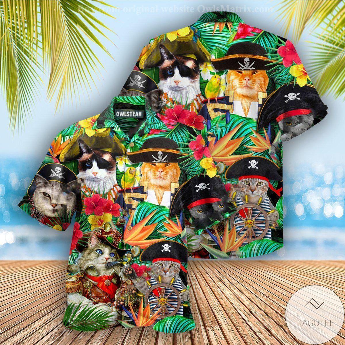 Cats It's Pirate Life For Me Hawaiian Shirt