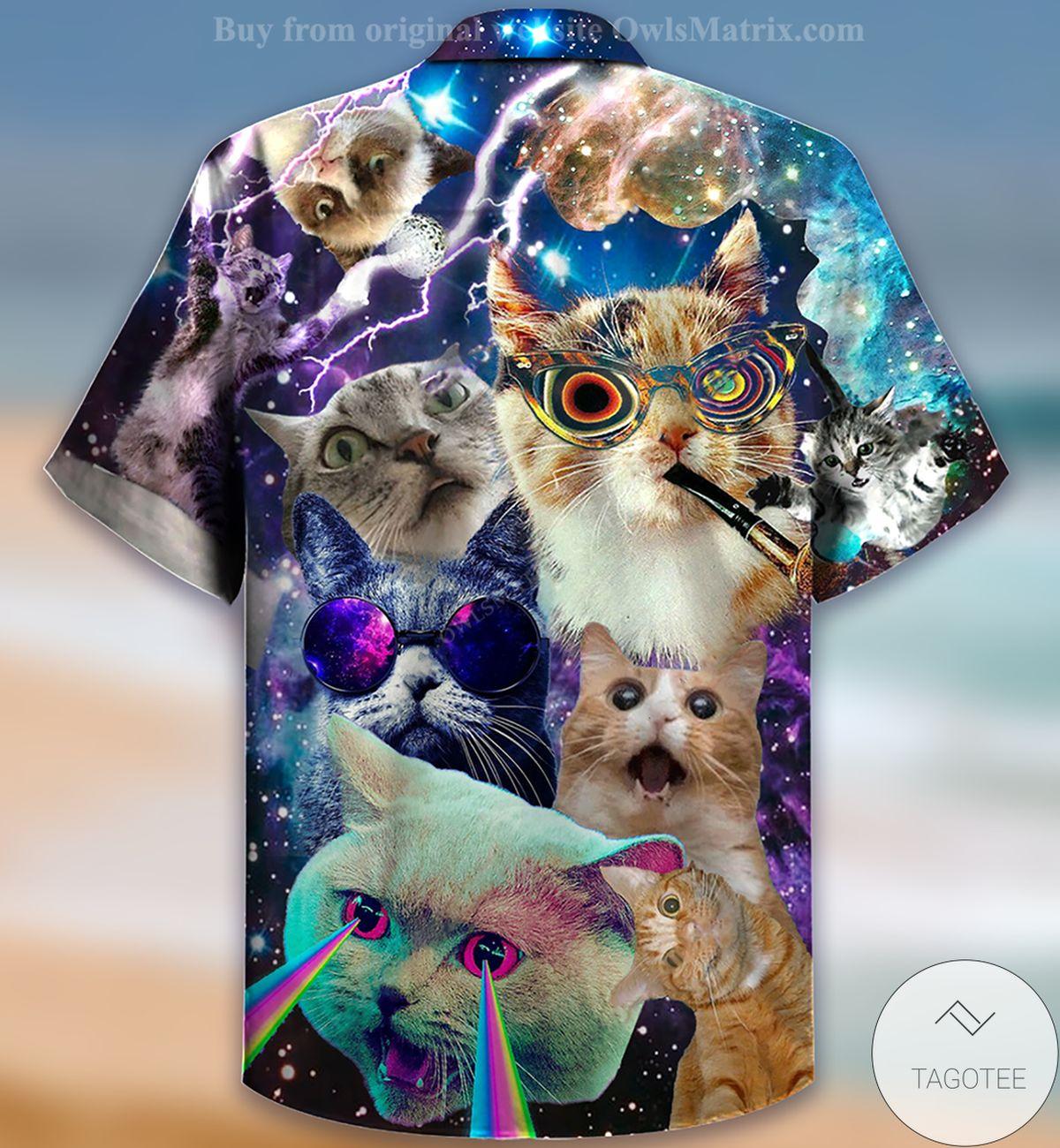 Free Cats The Battle Flying Cat Rebellion Hawaiian Shirt