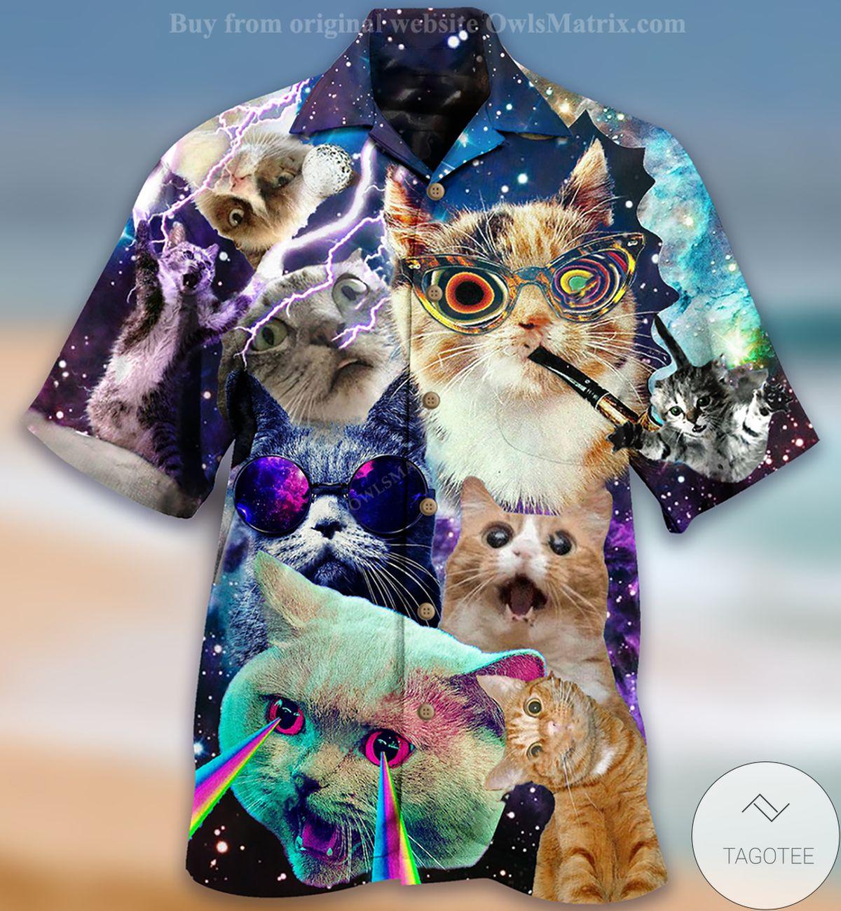 POD Cats The Battle Flying Cat Rebellion Hawaiian Shirt