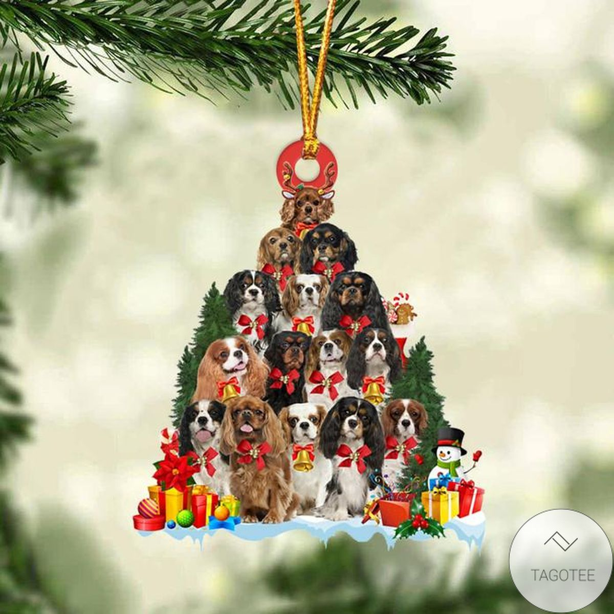 Best Cavalier King Charles Spaniel Dog Christmas Tree Ornament