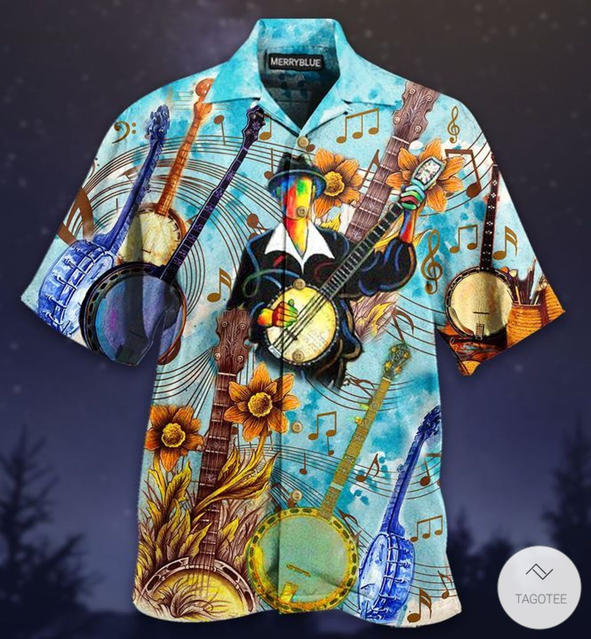 Cheerful Melodies From Banjo Hawaiian Shirt