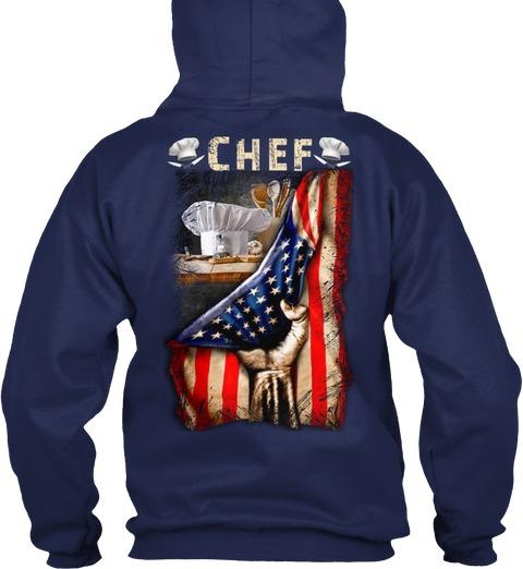Chef Proud American Flag hoodie