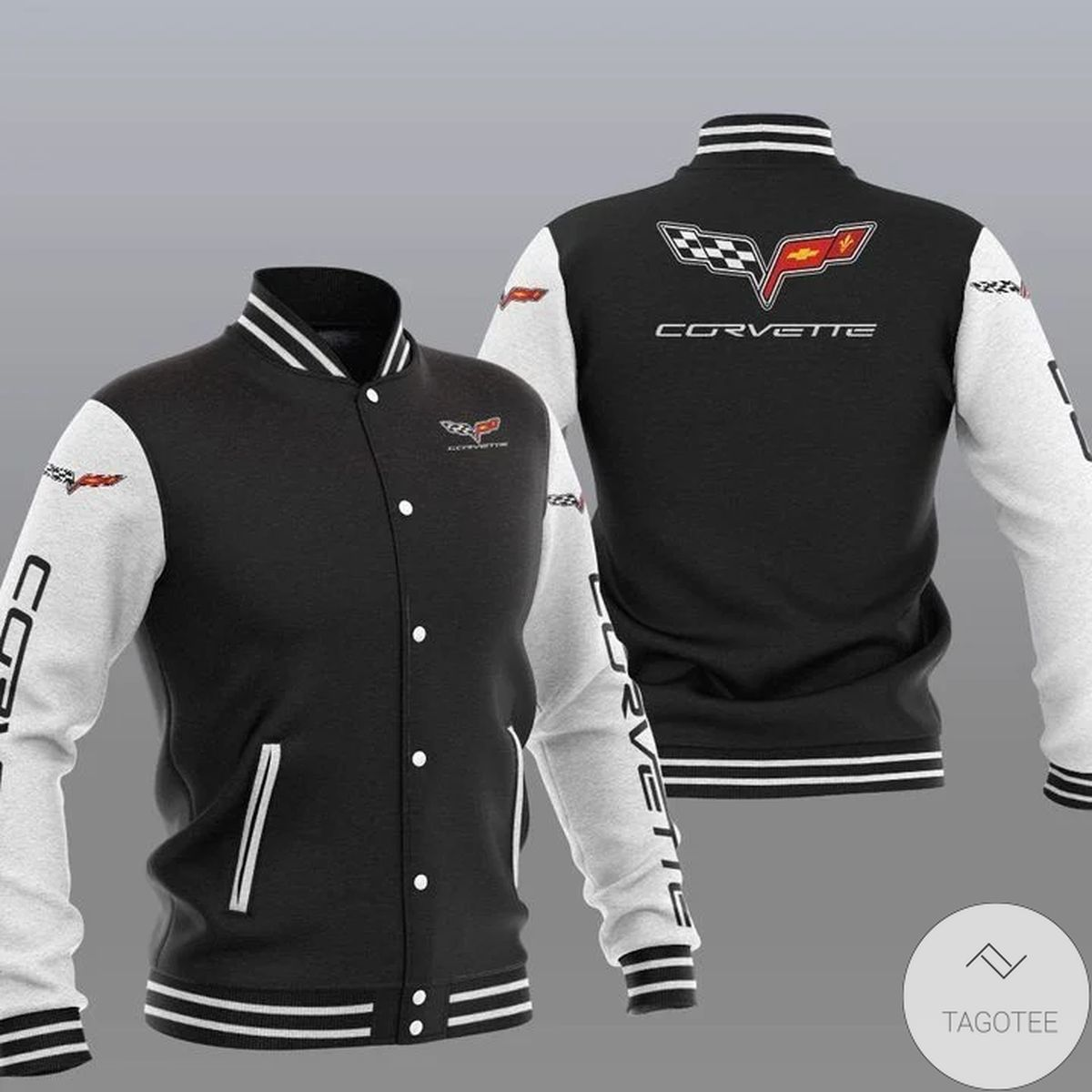 Great artwork! Chevrolet Corvette Varsity Baseball Jacket