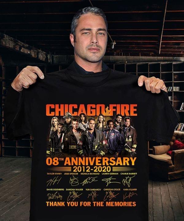 Chicago Fire 8th Anniversary 2012-2020 shirt