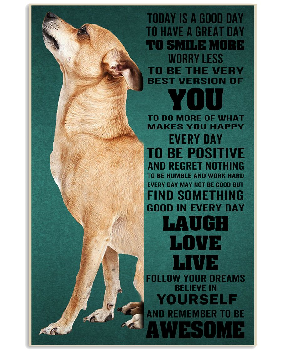 Chihuahua Today Is A Good Day To Have A Great Day To Smile More Worry Less Poster