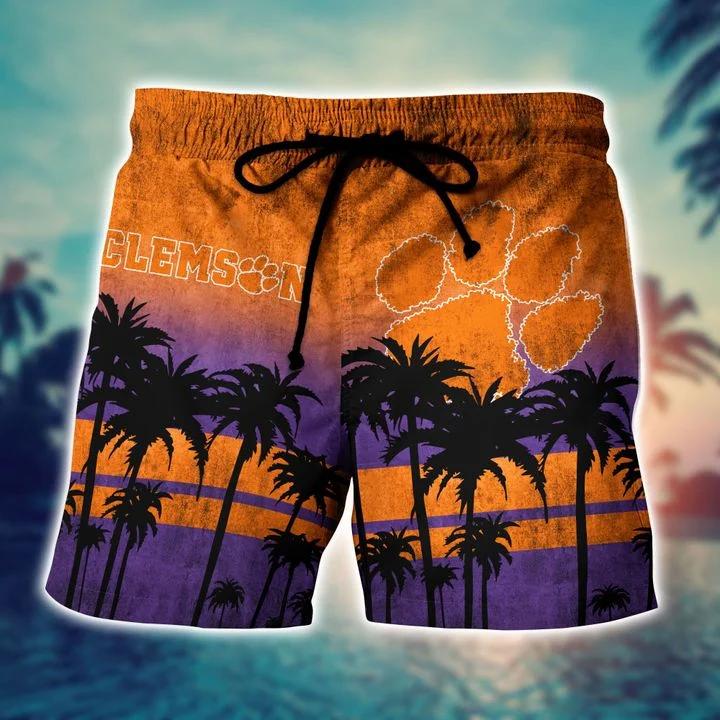 Nice Clemson Tigers Hawaiian Shirt, Beach Short