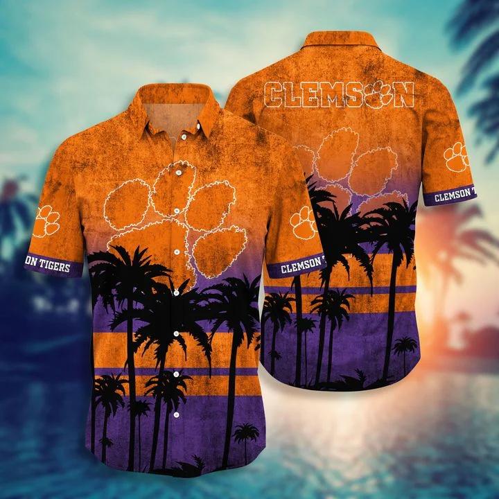 Very Good Quality Clemson Tigers Hawaiian Shirt, Beach Short