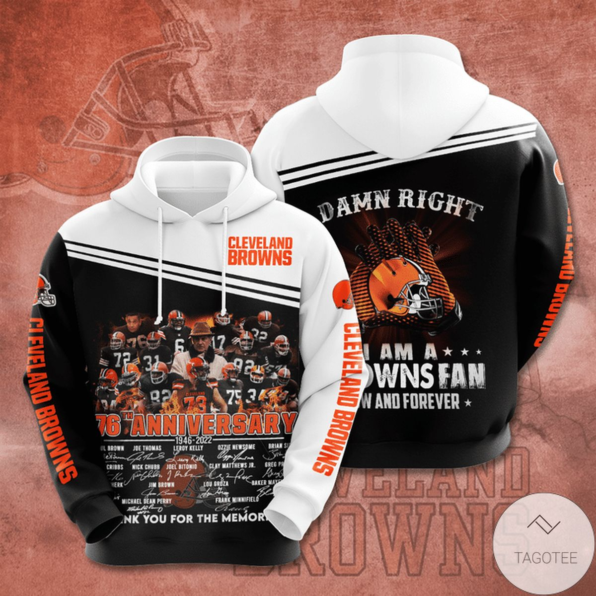 Cleveland Browns 76th Anniversary 1946-2022 Hoodie