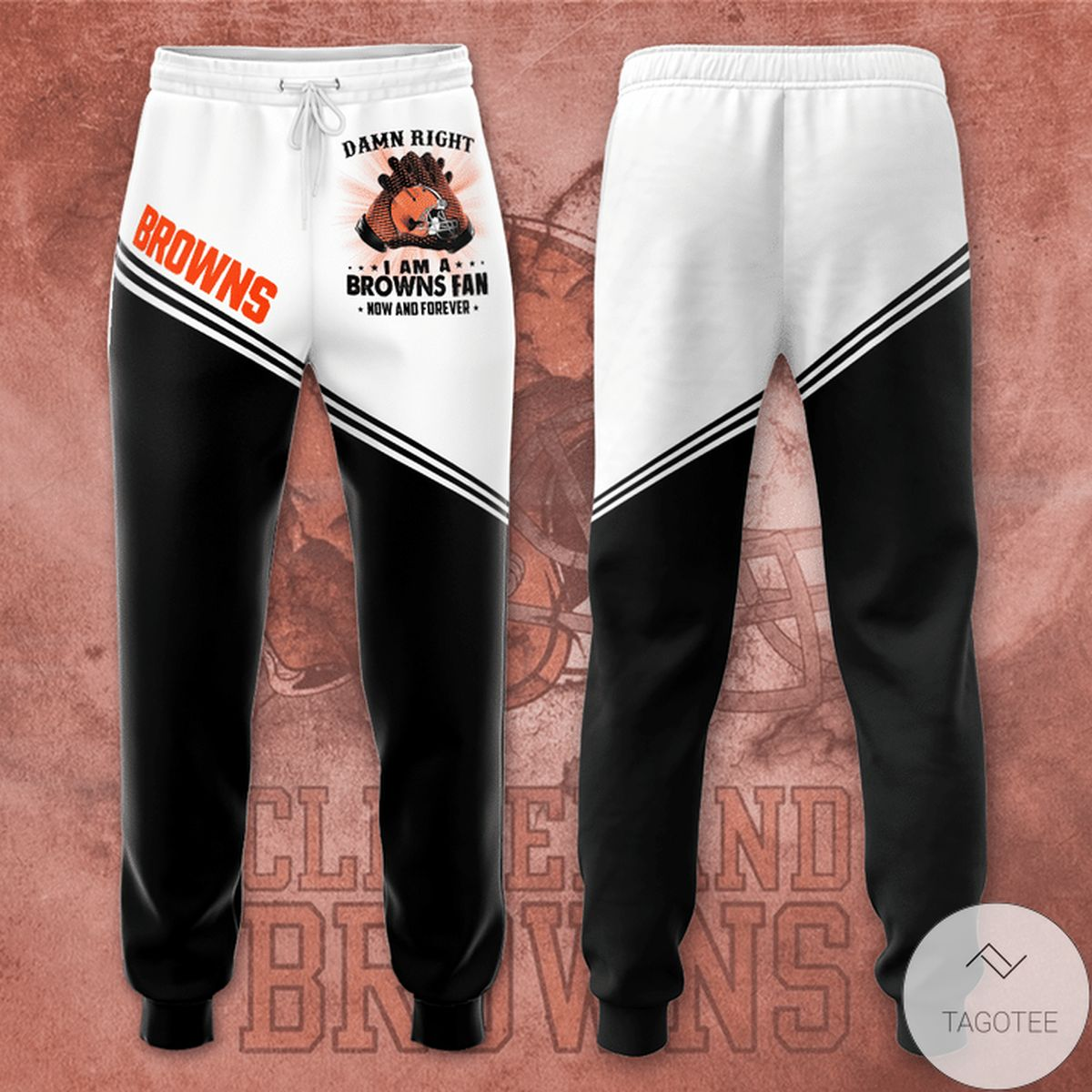 Cleveland Browns Damn Right I Am A Browns Fan Unisex Long Pants