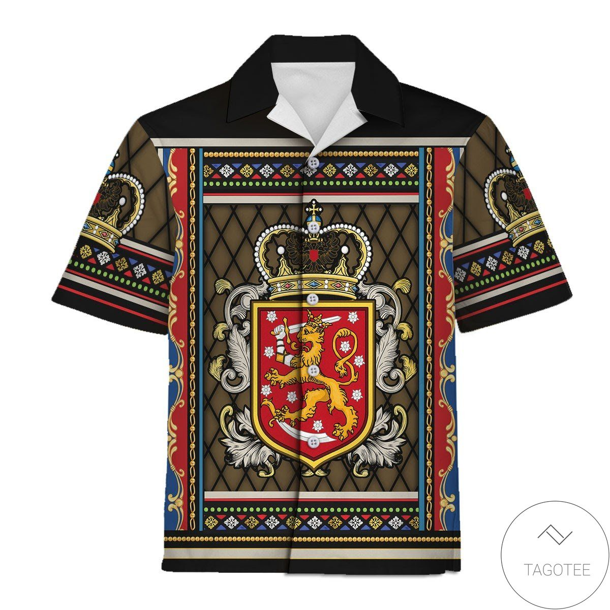Coat Of Arms Of Finland Hawaiian Shirt