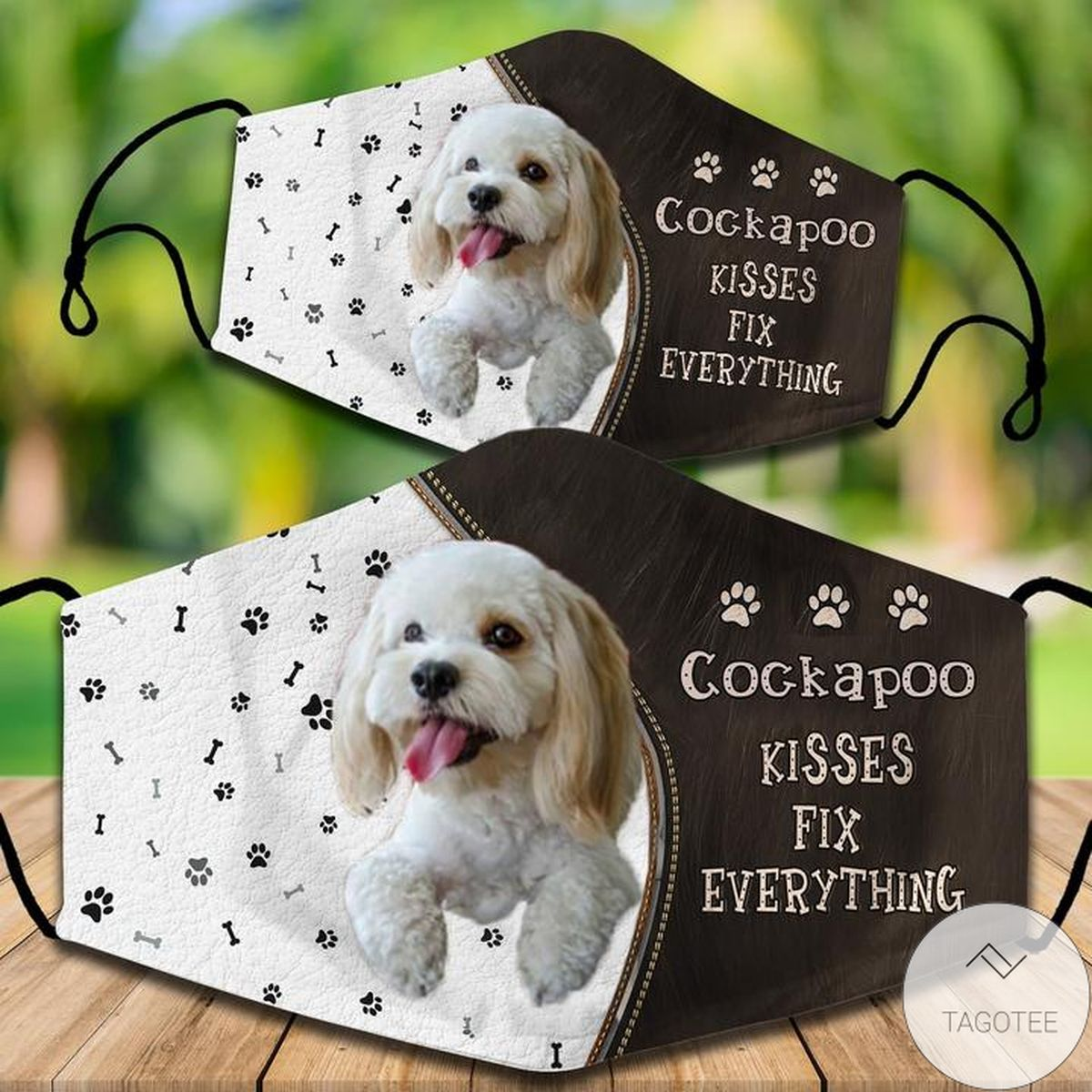 Cockapoo Kisses Fix Everything Face Mask
