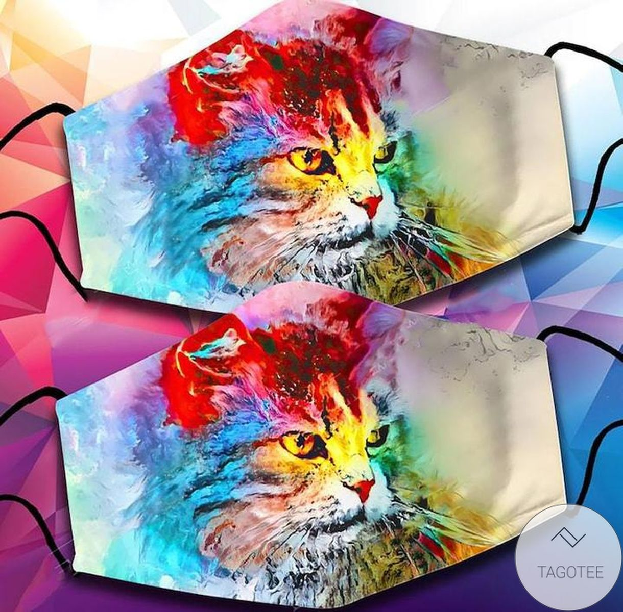 Handmade Colorful Cat Kitten Lover Cloth Face Mask
