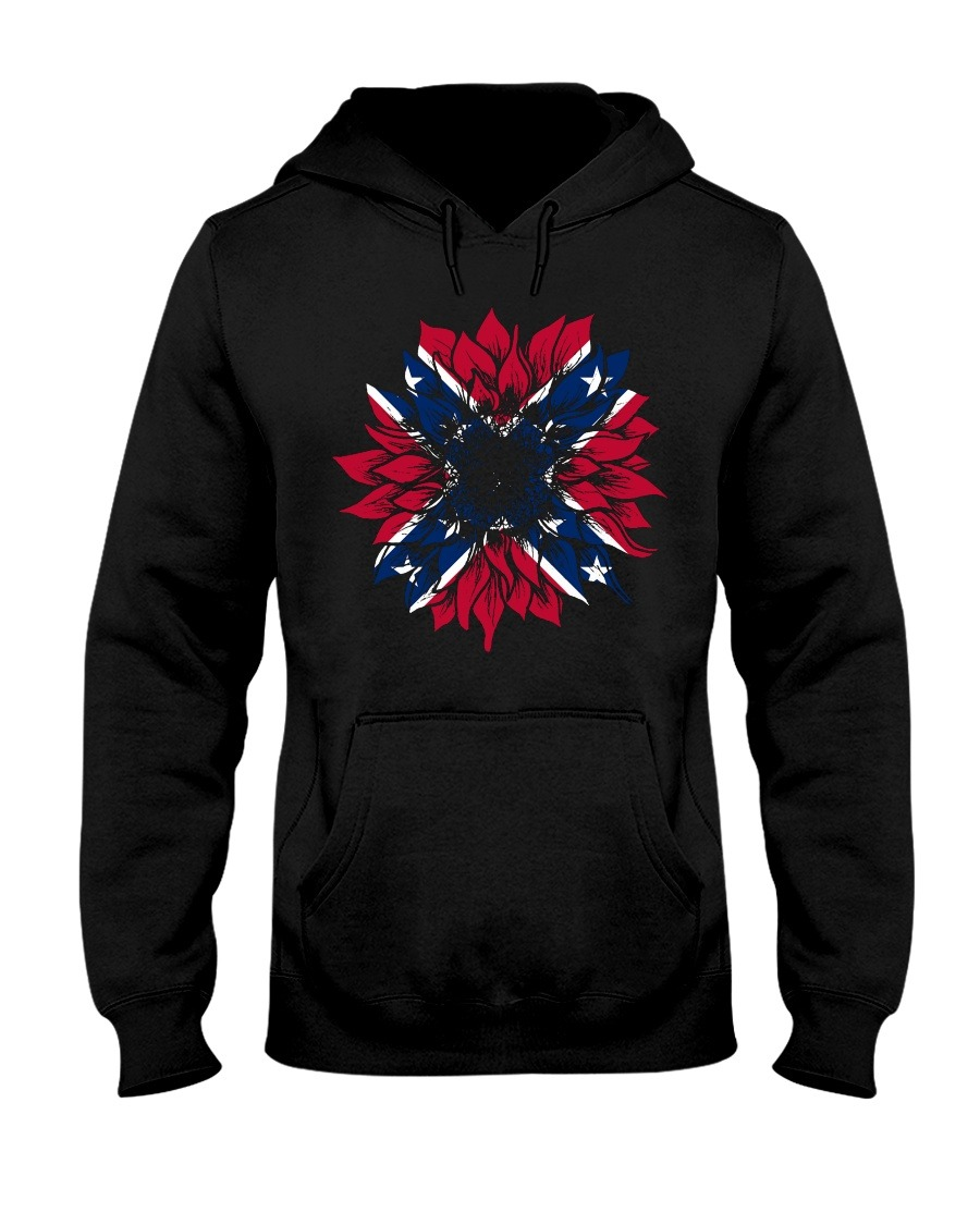Confederate Flag Sunflower hoodie