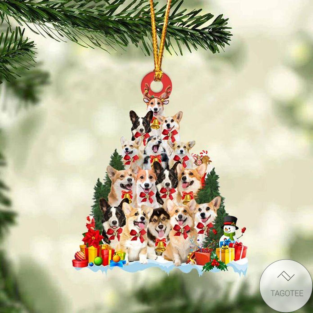Best Corgi Dog Christmas Tree Ornament