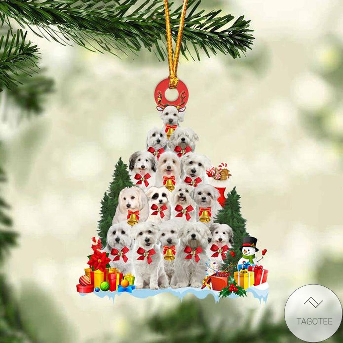 Coton De Tulear Dog Christmas Tree Ornament