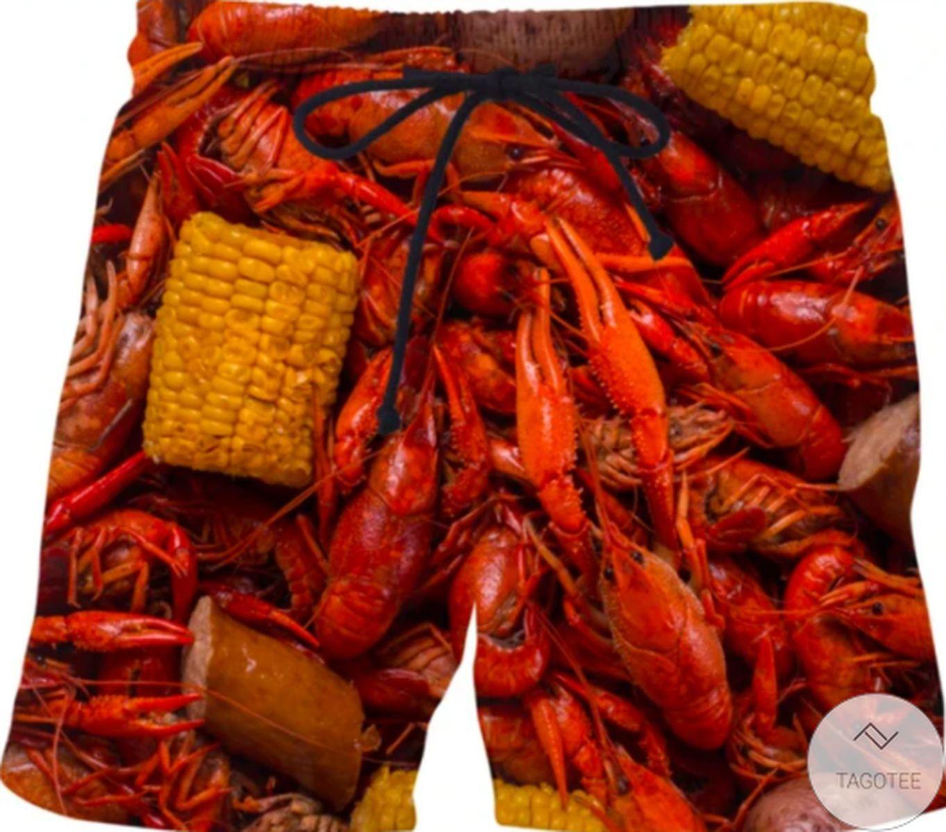 Crawfish Swim Trunks Beach Shorts