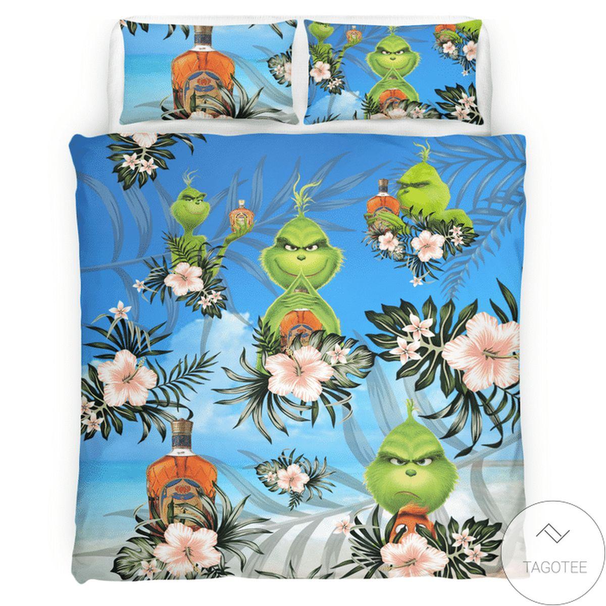 Crown Royal Grinch Bedding Set