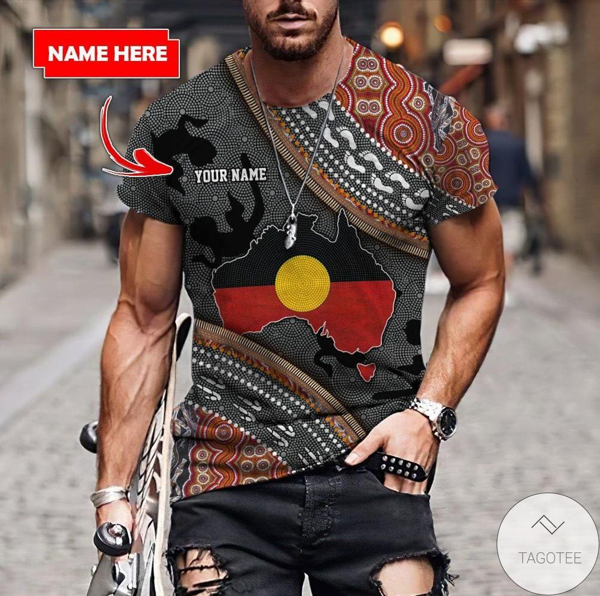 Custom Name Aboriginal Dots Zip Pattern 3d Shirt