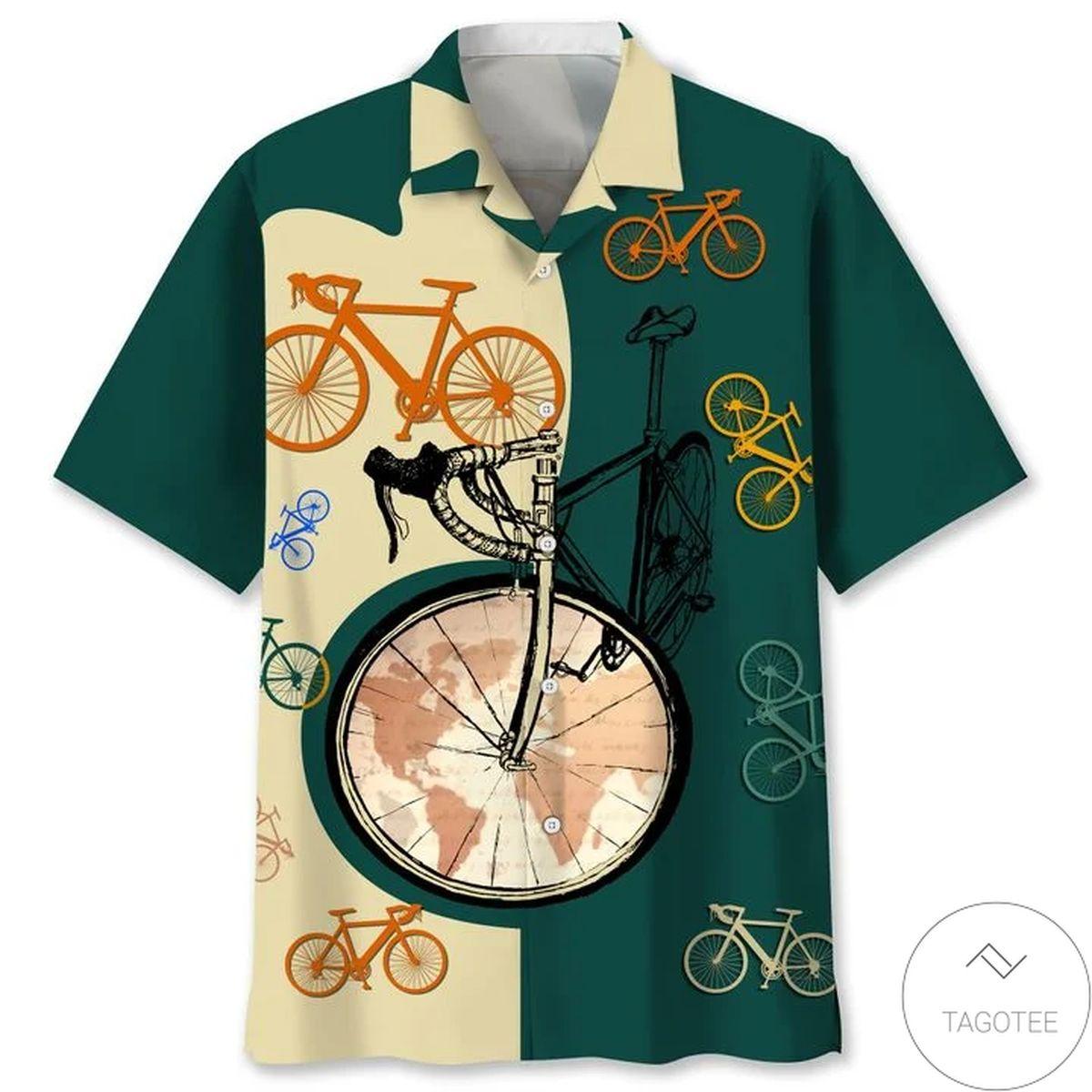 Cycling Color Map Hawaiian Shirt