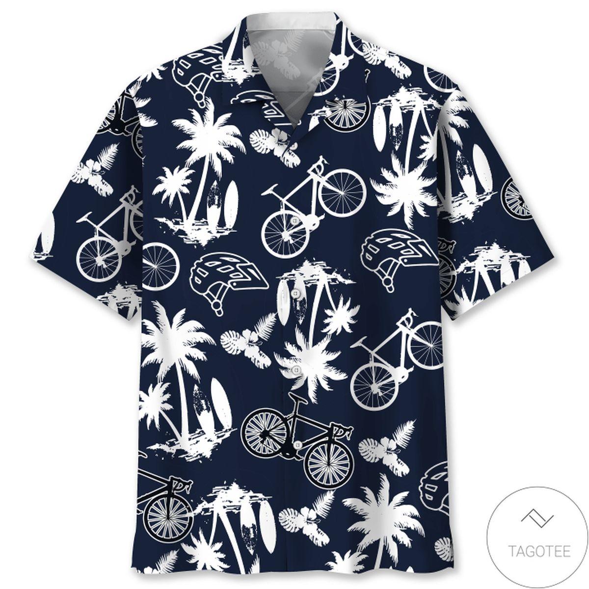 Cycling Palm Tree Hawaiian Shirt