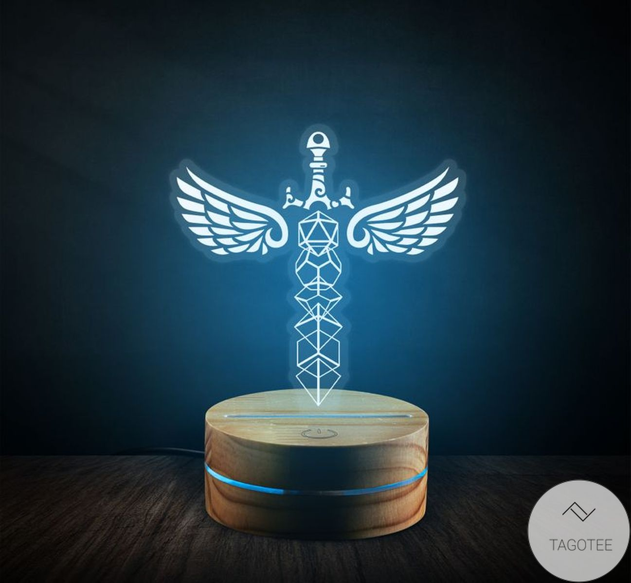 D&D Dice Sword UV LED Lamp, Night Light Lamps