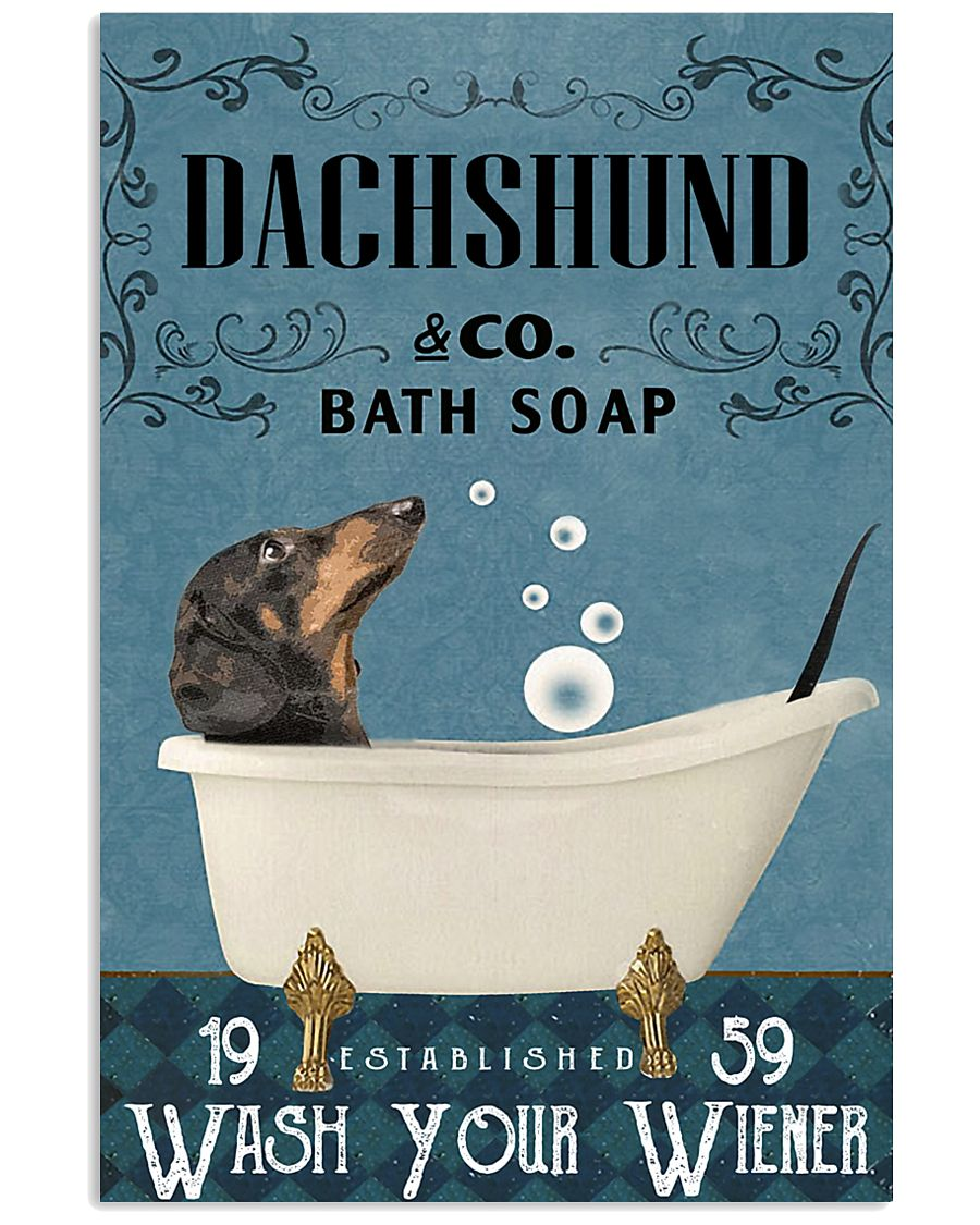 Dachshund Bath Soap Company Wash Your Paws Poster