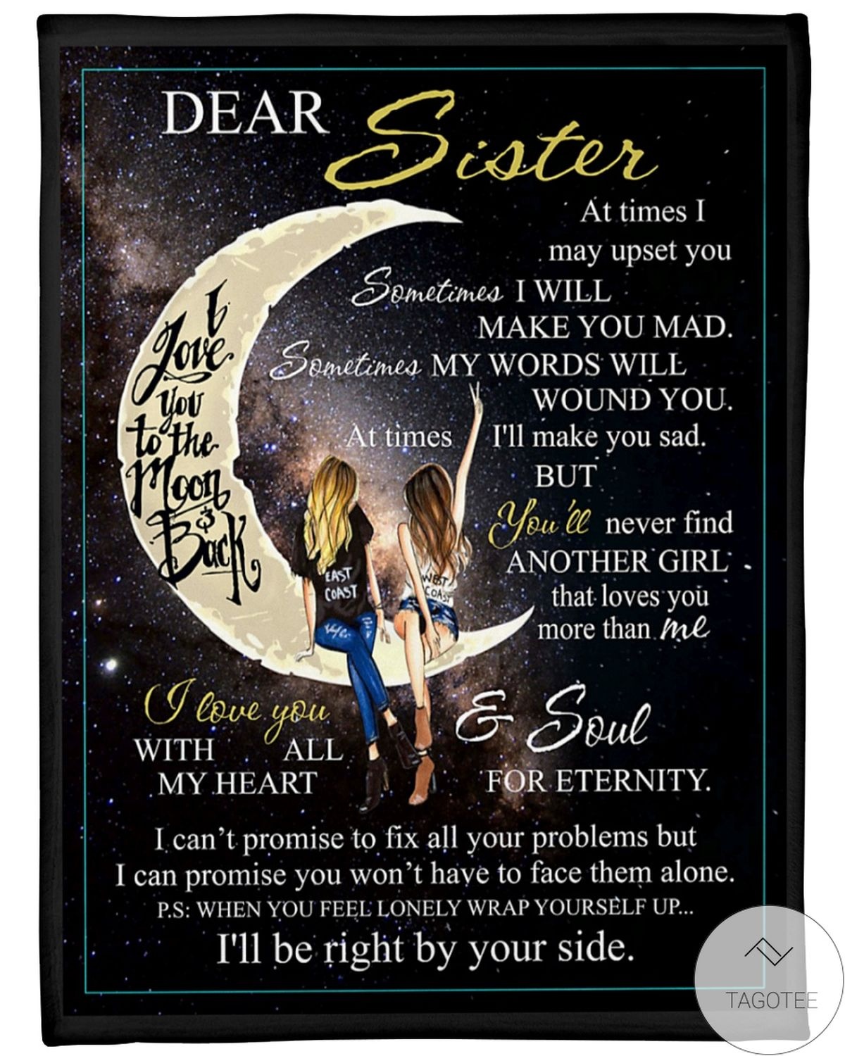 Dear Sister I'll Be Right By Your Side Blanket
