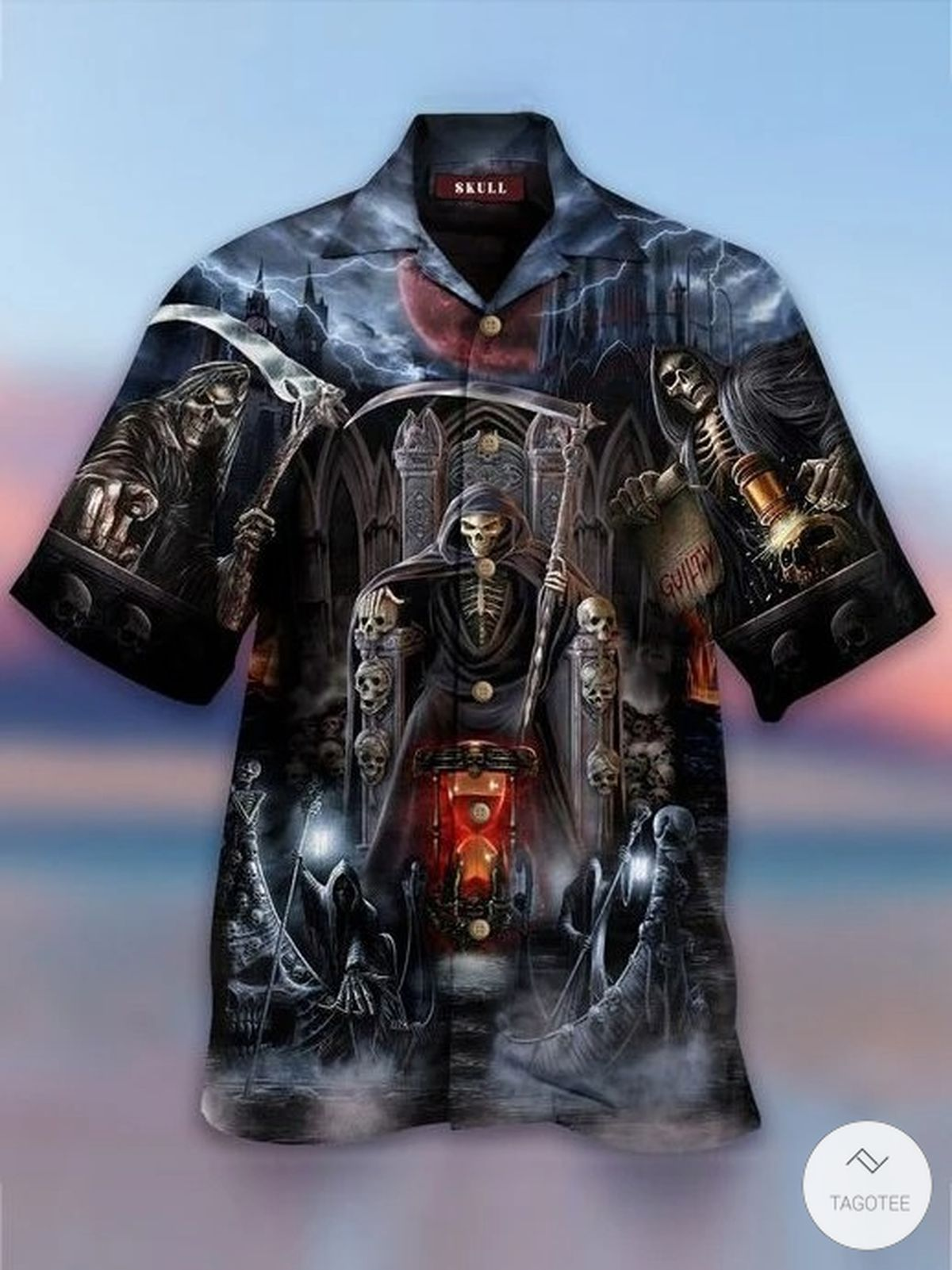 Death Skull Hawaiian Shirt