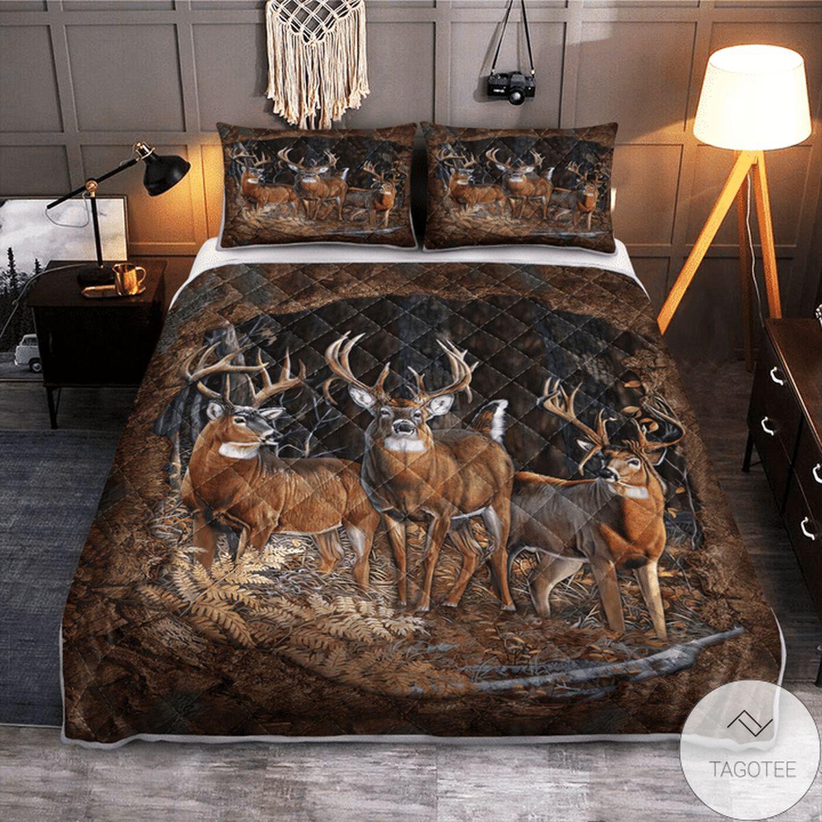 Deer Hunting Quilt Bedding Set