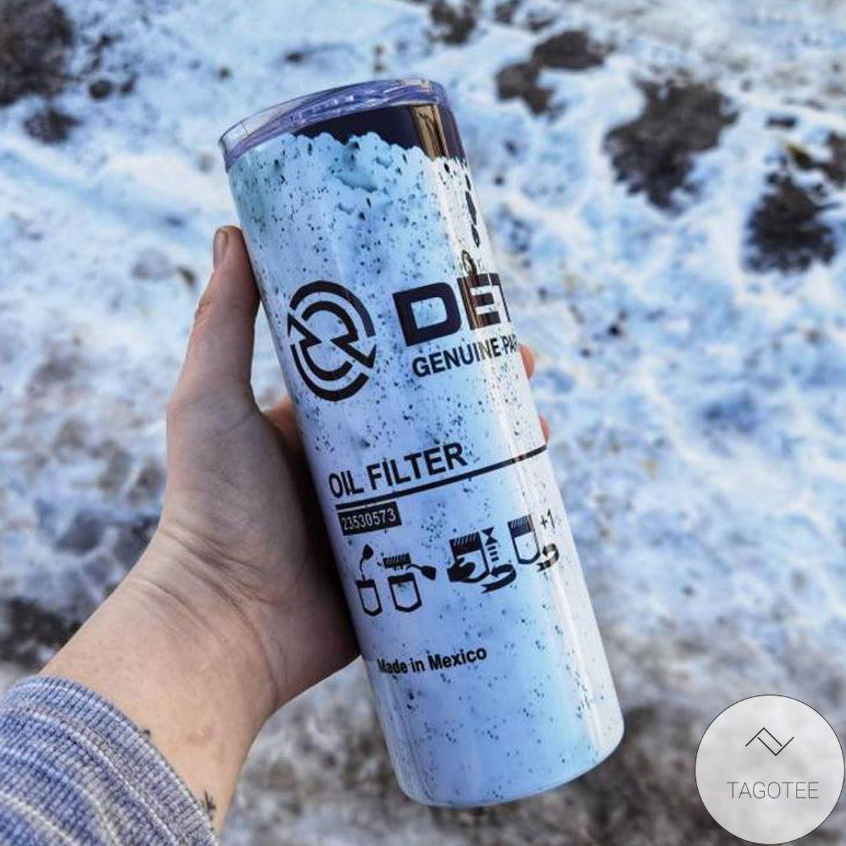 Detroit Diesel Oil Filter Skinny Tumbler