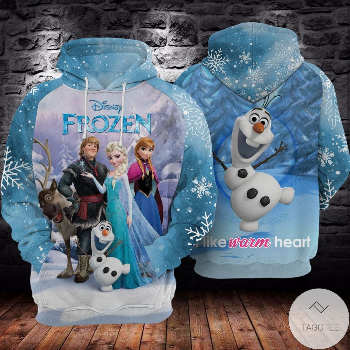 Ships From USA Disney Frozen Lovely Characters 3d Hoodie