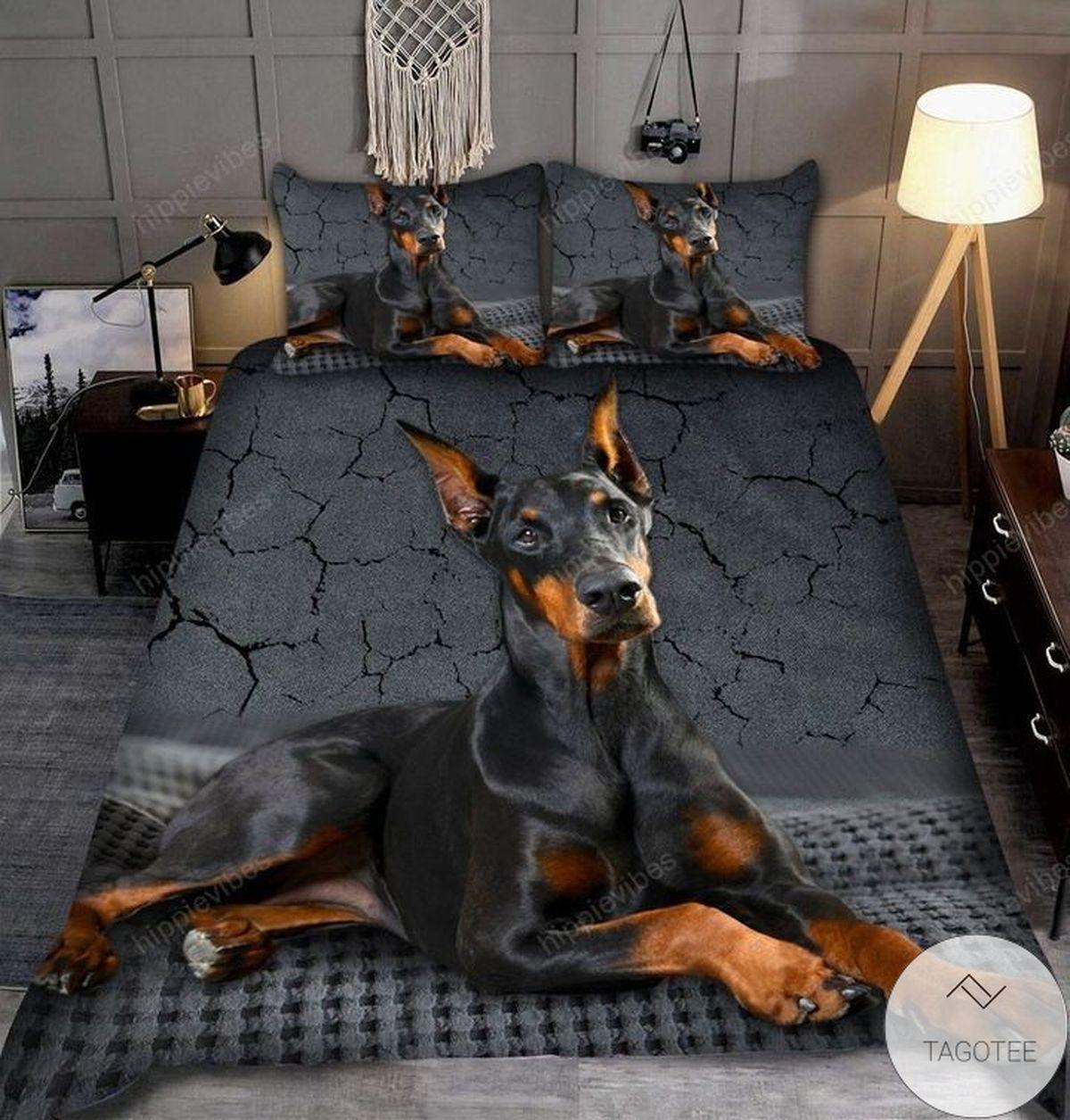 Dobermann 3d Bedding Set