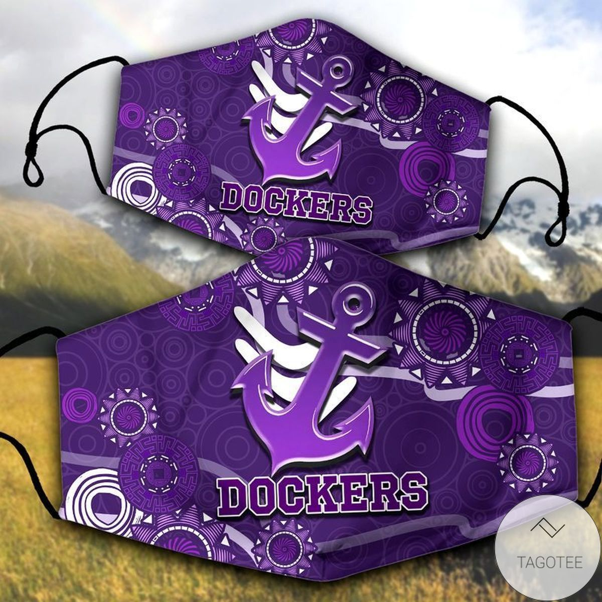 Dockers Anchor Purple Face Mask